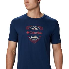 Columbia Nelson Point Graphic Camiseta Manga Corta Hombre, carbon